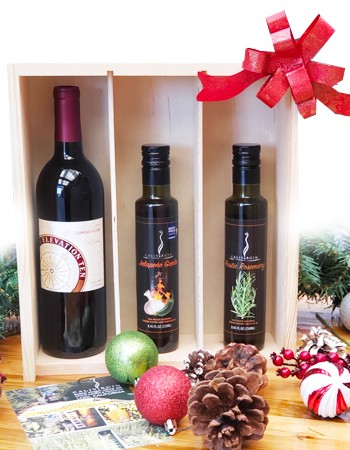 Olive Oil & Wine Gift Set