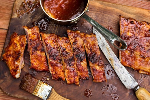 Blueberry Chipotle Baby Back Ribs