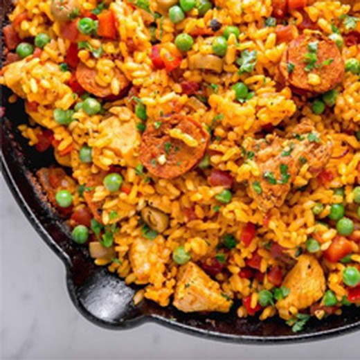 Chirizo and Chicken Paella