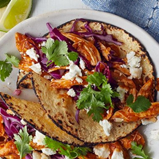 Spicy Chicken Soft Tacos with Goat Cheese